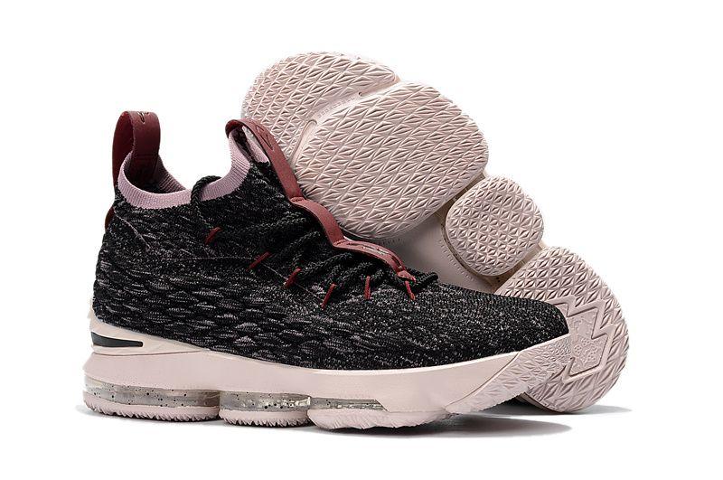discount nike lebron 15 xv cavs grey pink mens basketball shoes 2018 wholesale
