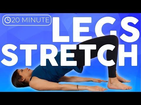 bedtime yoga stretch in bed 20 minute legs  hips