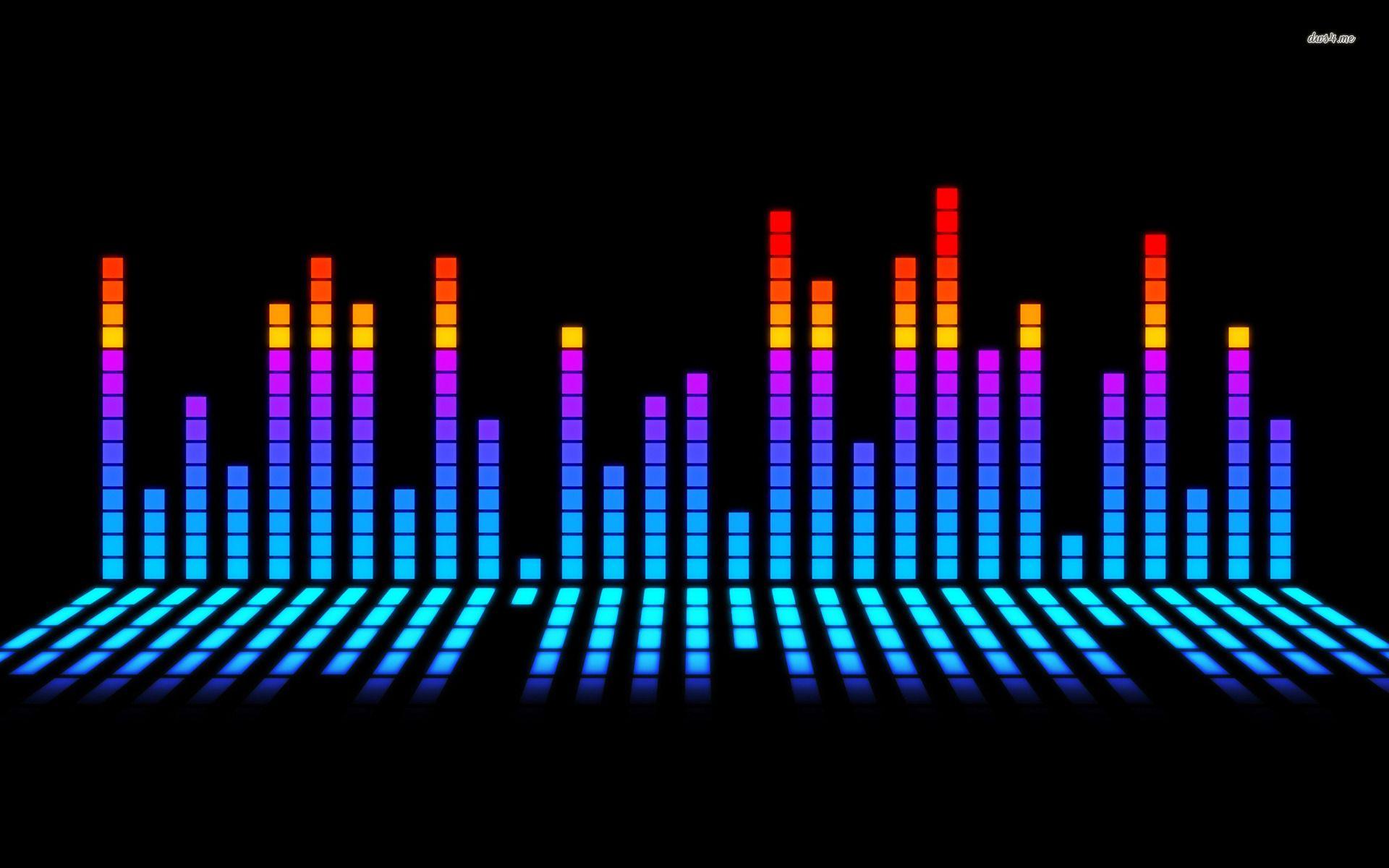 Blue Music Equalizer Hd Wallpaper Google Search Hiburan