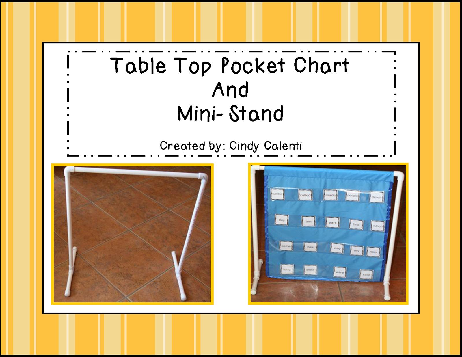 Granny Goes To School Diy Table Top Pocket Chart And Frame Pocket Chart Table Top Diy Table Top