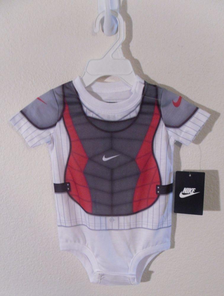 nwt #nike newborn #baby #boy baseball catcher onesie bodysuit 9/12 months.