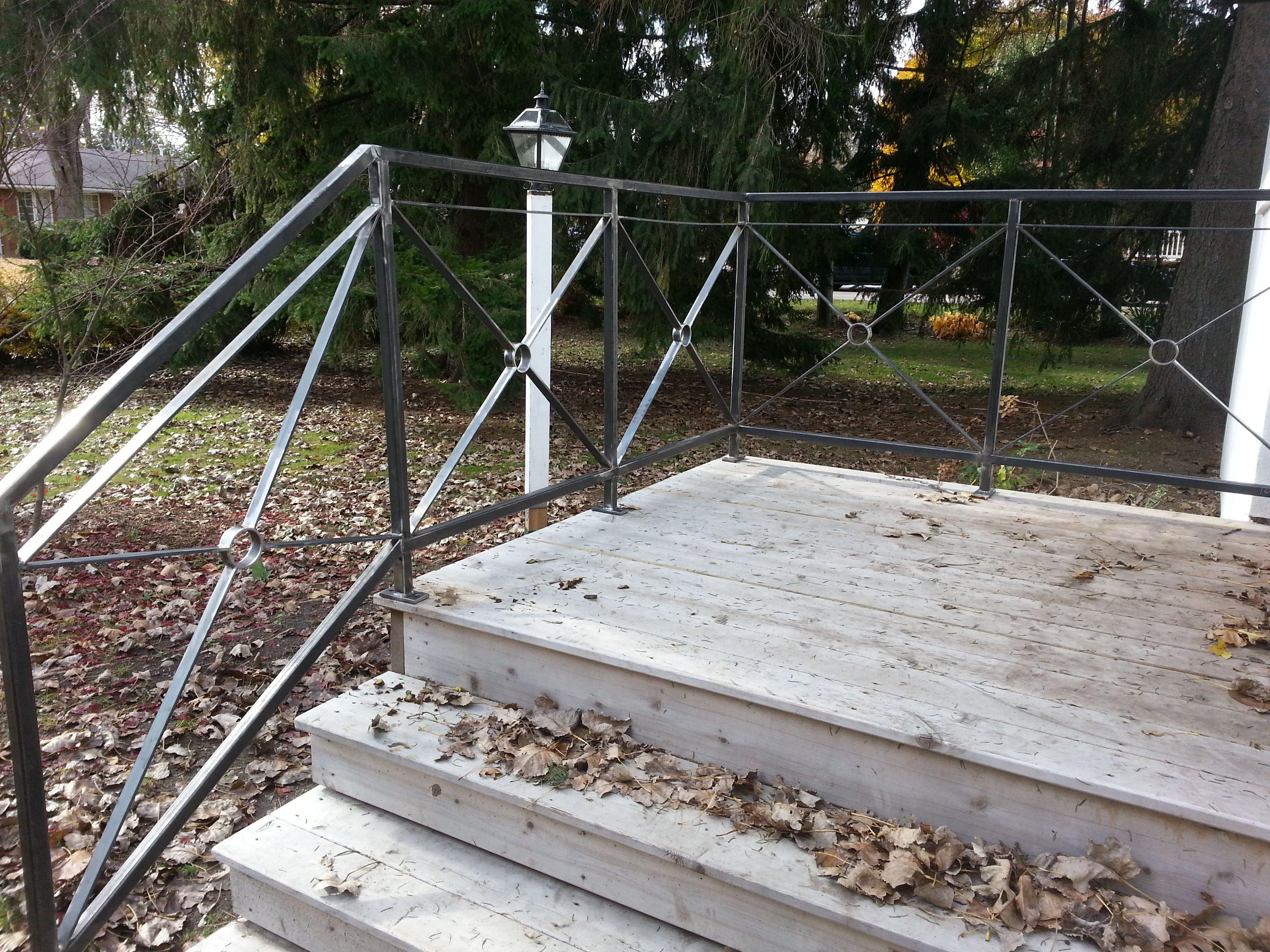 Custom Made Patio Railing Work in Progress Sunset Metal Fab