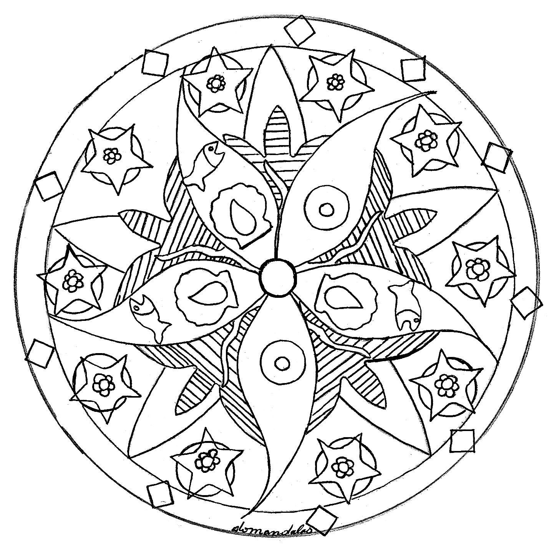 32 Élégant Coloriage Mandala Facile Image   Mandala coloring pages ...