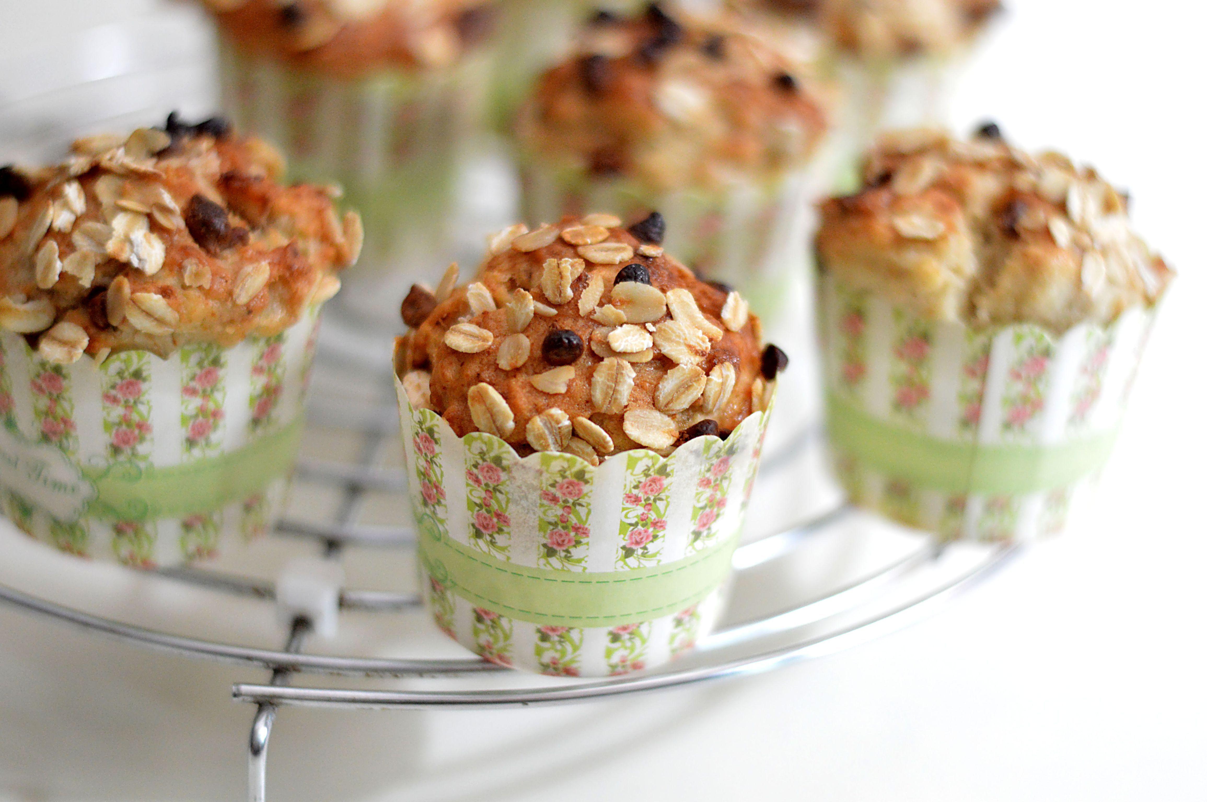 Banana oats muffins eggless recipe banana oat muffins