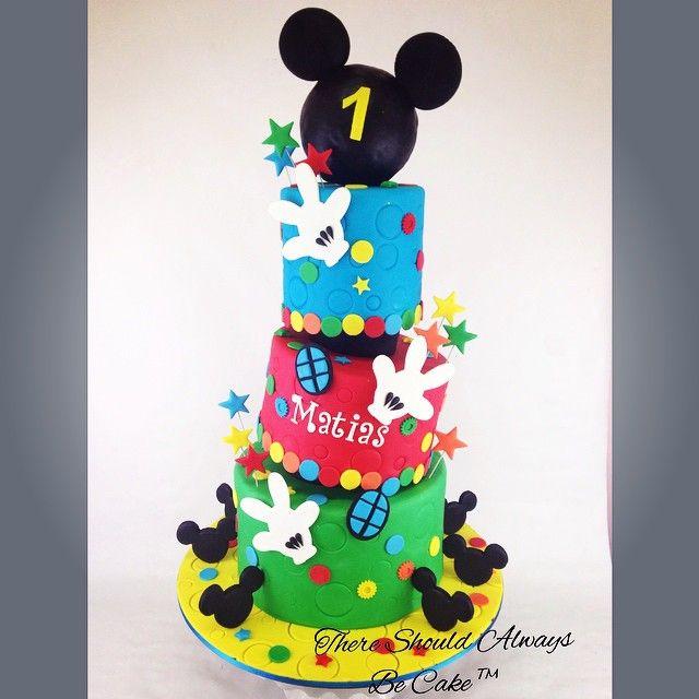 @thereshouldalwaysbecake - Mickey's Club House Super Birthday Cake - Enjoygram