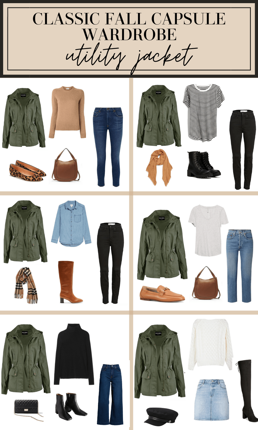 Photo of Classic Fall Capsule Wardrobe (Shopping List, Outfit Ideas,