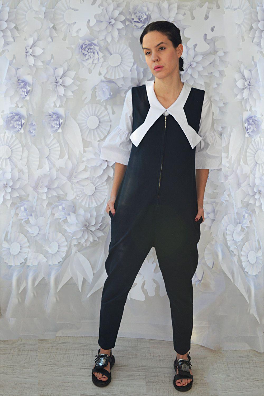 Harem jumpsuitplus size clothingloose trousersblack harem pants