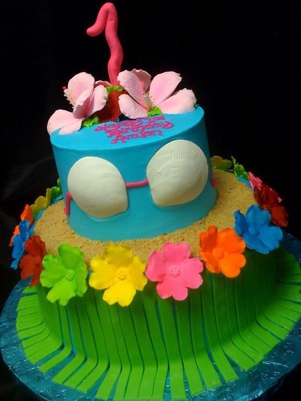 Aloha Birthday Cake