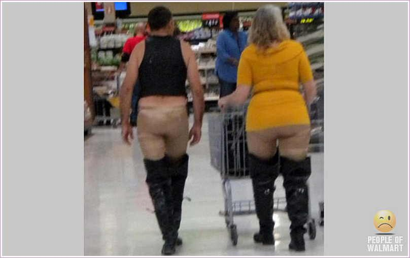 Funny People Pictures At Walmart You Often See Some Really Funny People In Walmart Who Look Crazy But You Can Say That They Have Courage To Wear Dress