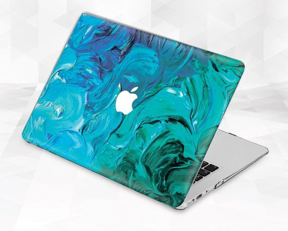Paint Macbook case Art Blue Macbook Pro 13 inch 2018 Air 13 Pro 15