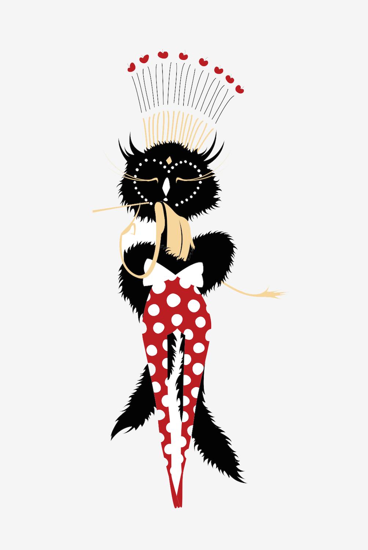 Chacha Club Illustration, by Alix d'Anselme