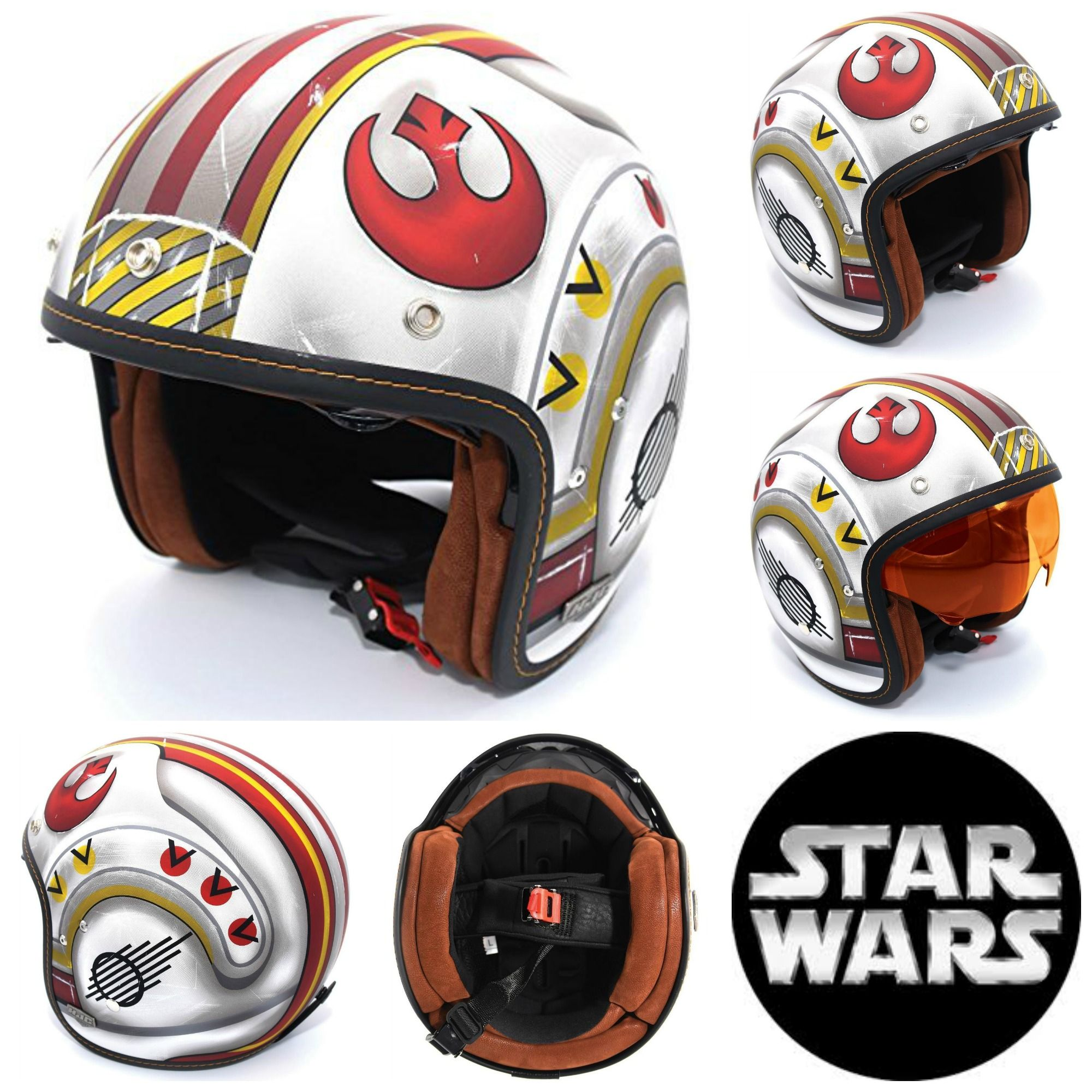 Star Wars Motorcycle Helmets I Am One With The Force Helmet Motorcycle Helmets Old School Bike