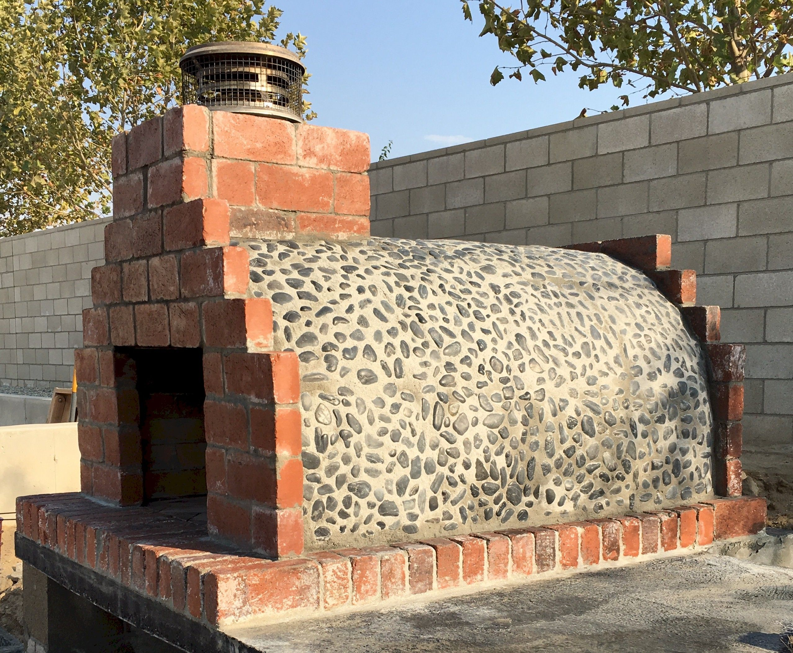 Build a brick oven beeney brick pizza oven outdoor