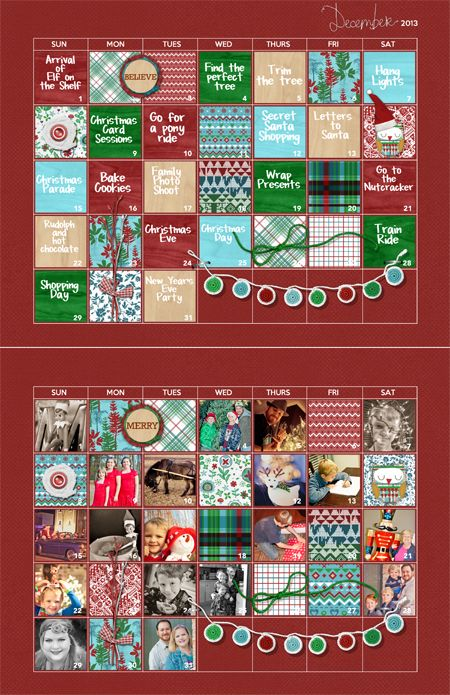 Free December 2013 Advent Calendar Template Download From