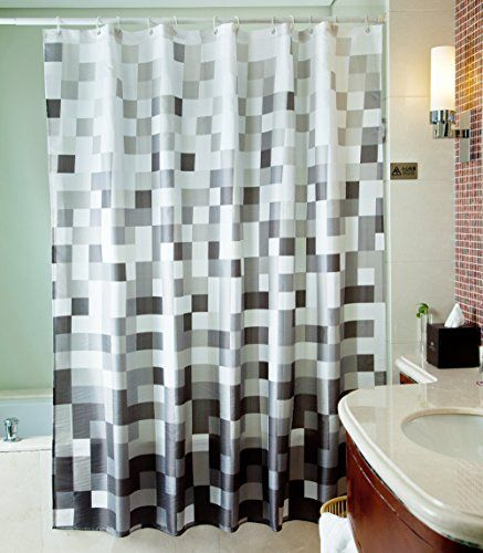 Sfoothome Polyester Fabric Shower Curtain Waterproof No More