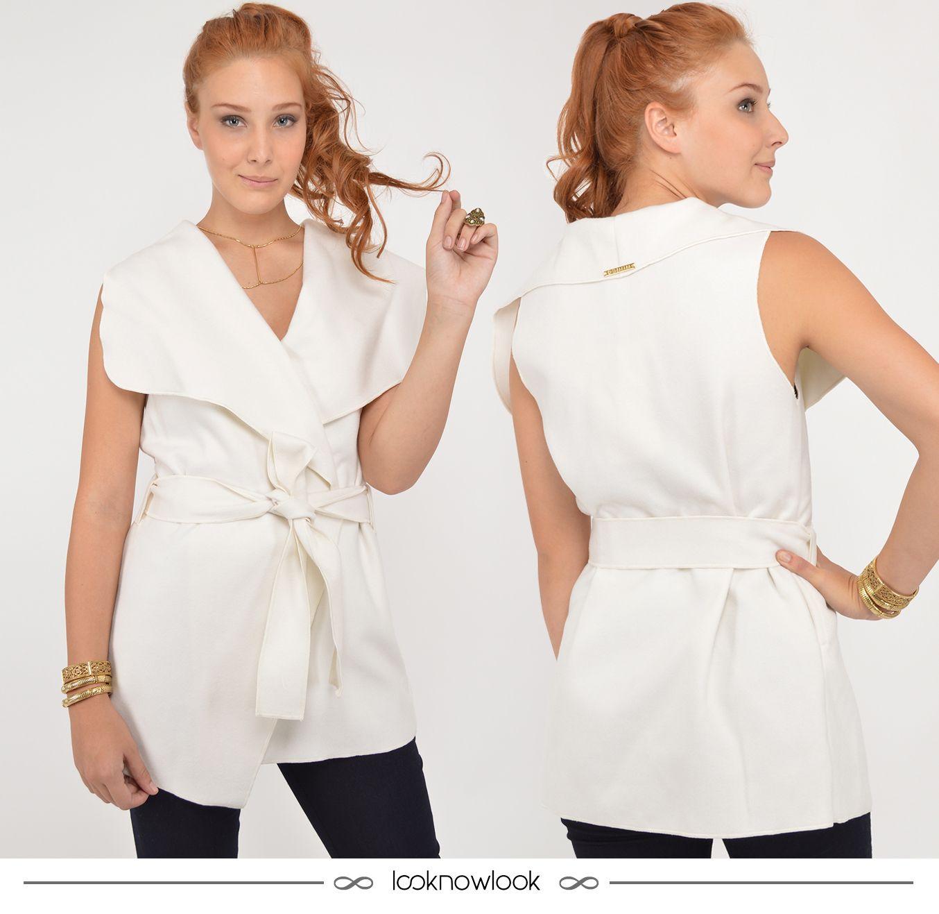 Colete com amarração na cintura. #moda #look #outfit #ootd #shop #lojaonline #ecommerce #gatabakana #novidade #tendência #estilo #colete #inverno #lnl #looknowlook