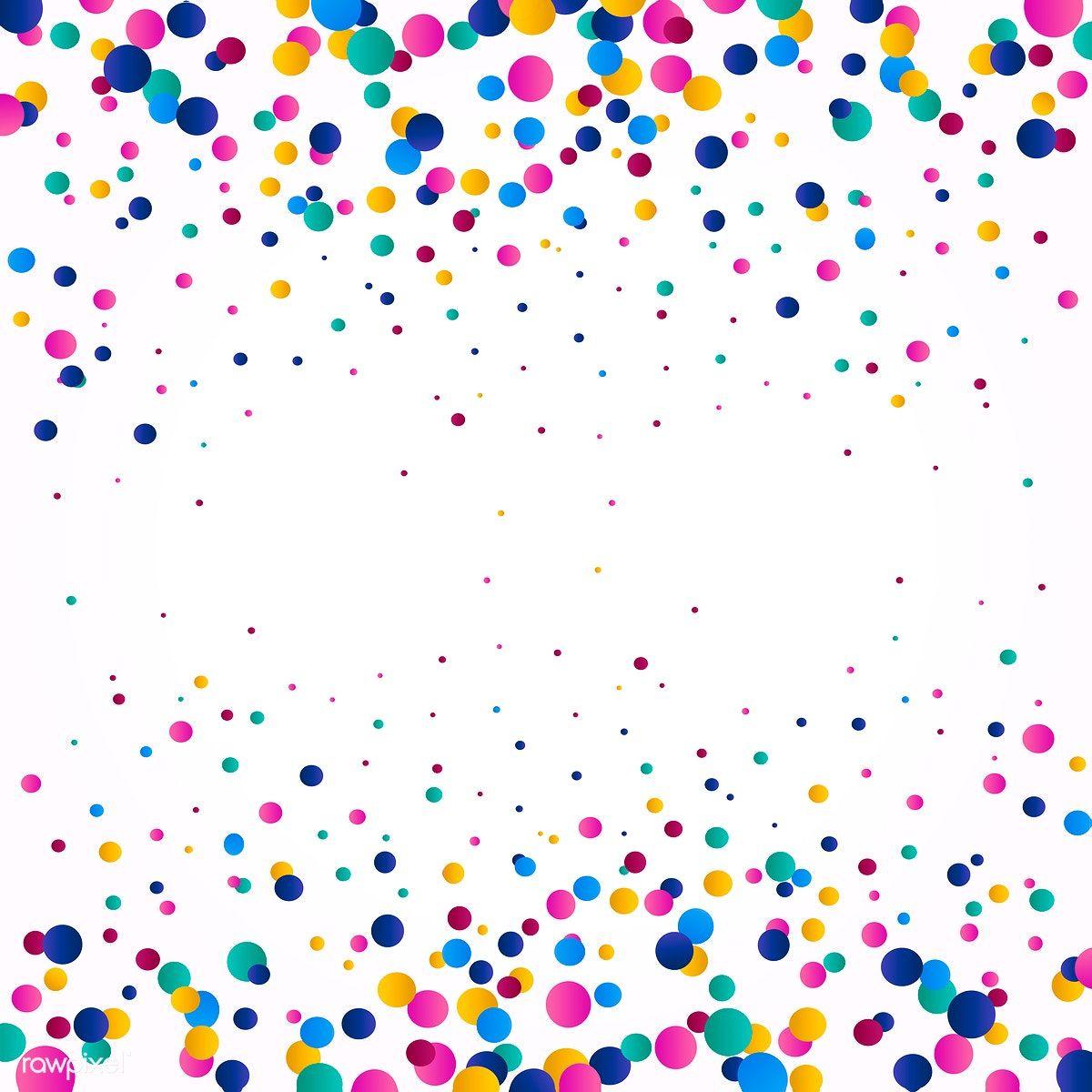 Colorful Confetti Background Explosion Vector Free Image By Rawpixel Com Filmful Confetti Background Balloon Background Birthday Background Design
