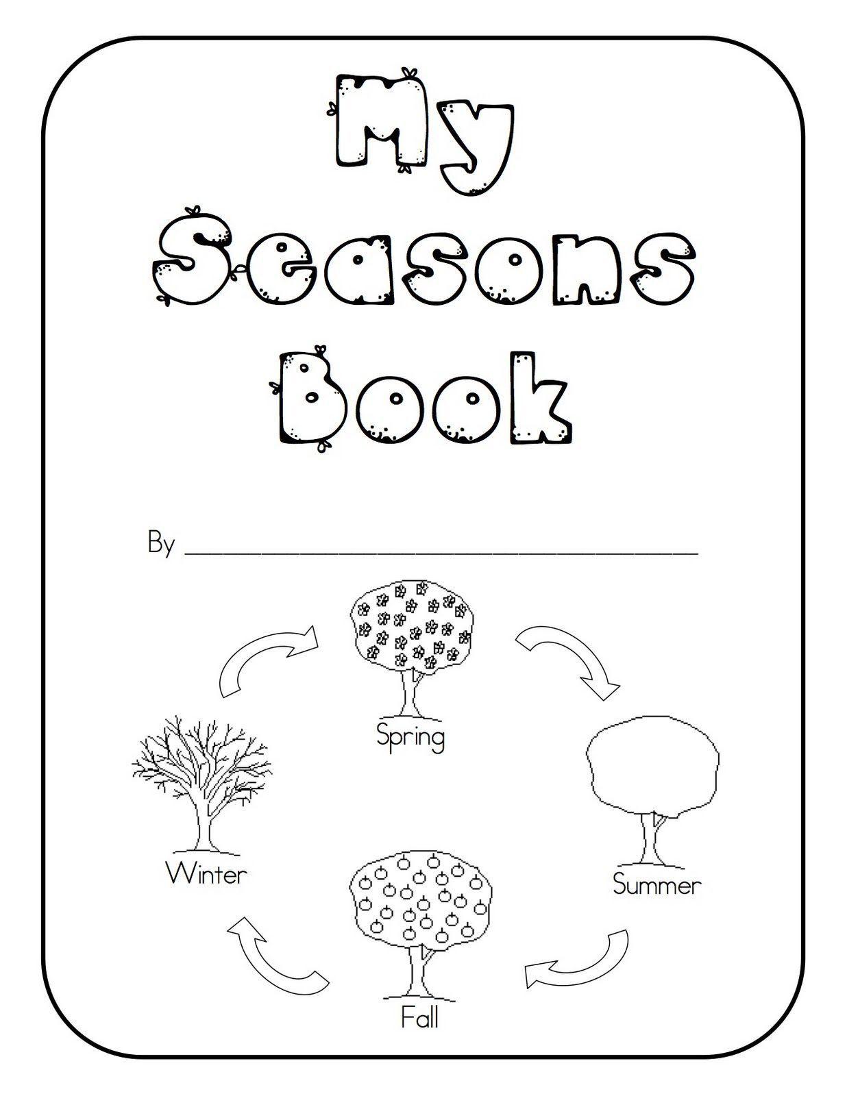 Seasons Worksheets Kindergarten Teaching Seasons