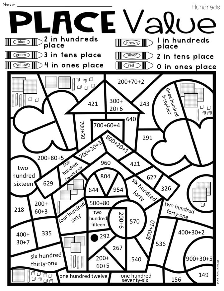 place value color by code differentiated classroom place value activities math classroom. Black Bedroom Furniture Sets. Home Design Ideas