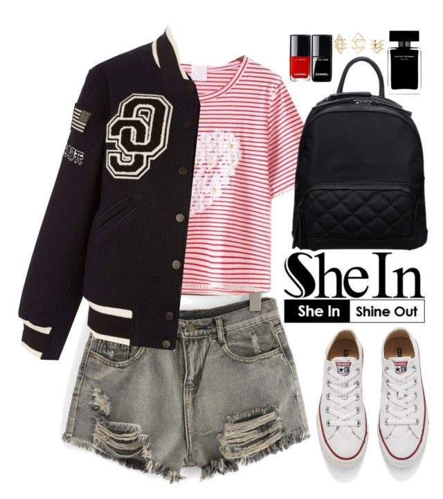 """""""Shein"""" by oshint ❤ liked on Polyvore featuring Converse, Opening Ceremony, Narciso Rodriguez and Charlotte Russe"""