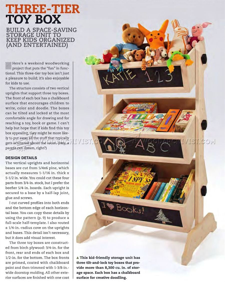 three-tier toy box plans - wooden toy plans | projects: toy