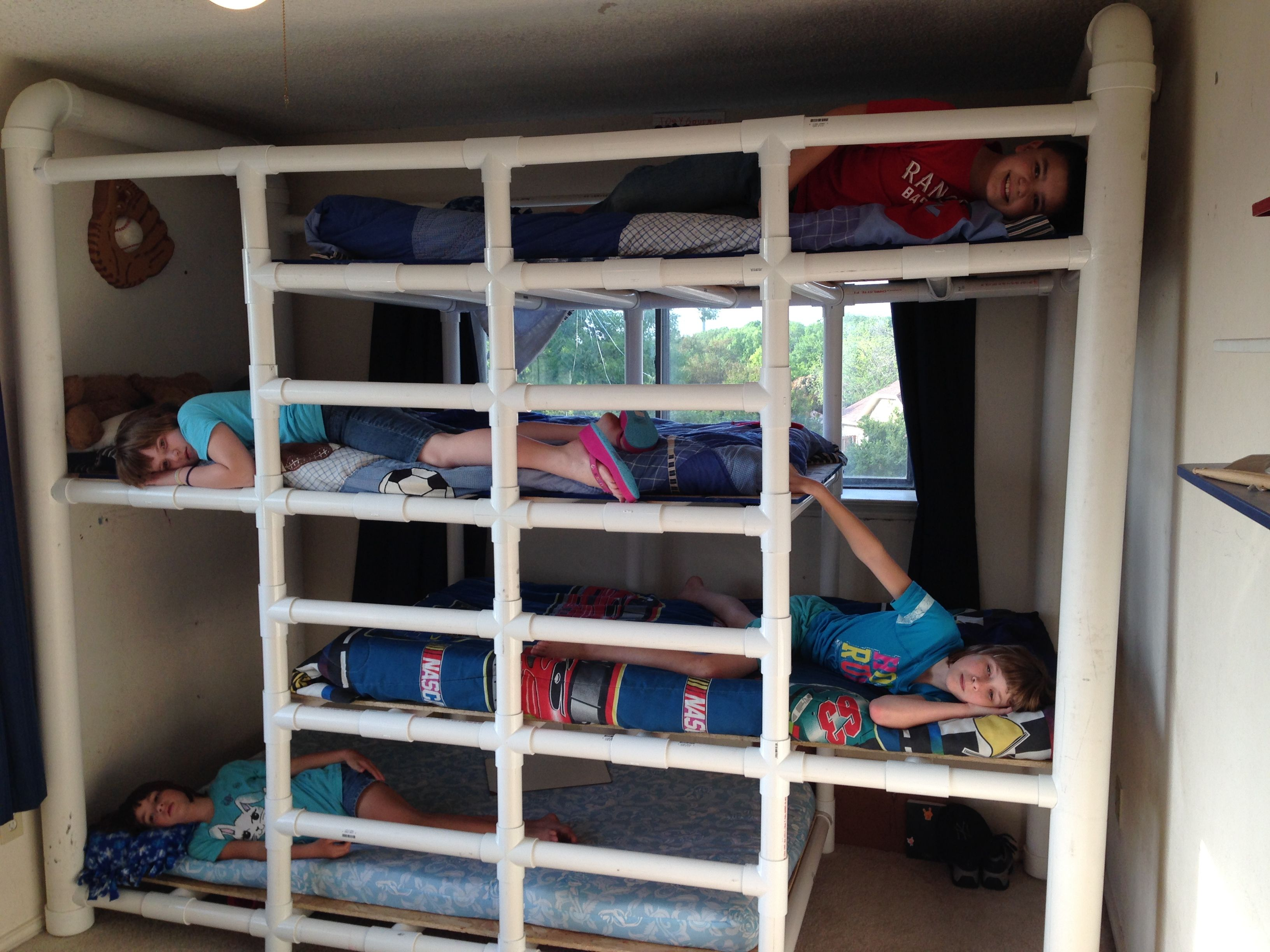 Diy Bunk Beds Pvc For The Home Pinterest Camerette Tubi And