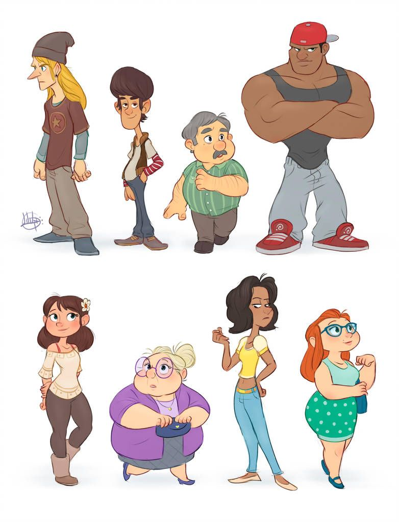 Random Characters 1 By Luigil Character Design Animation Character Design Cartoon Character Design