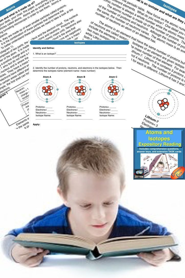 Atoms And Isotopes Guided Reading Reading Passages Distance Learning Guided Reading Reading Passages Expository Text