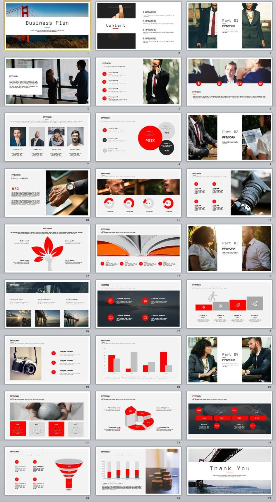 27 best business plan powerpoint template ppt pinterest