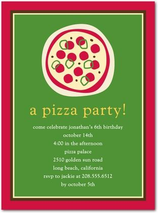 Pizza Party Invitation From Tiny Prints Let S Start Planning A