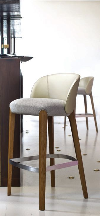 Nice Bar Stool With Clean Lines I Like The Metal Foot Rail