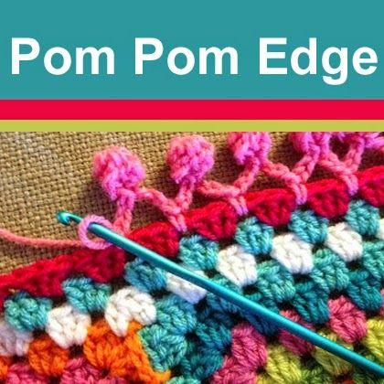 Cute Pom Pom edging!   Crochet-Stitches   Pinterest