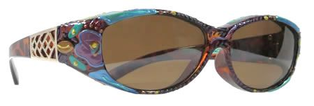 Fit Over Sunglasses Polarized decorated by Art4theface   Artistic ...