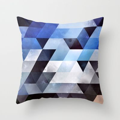 Want to start looking into getting a series of similar geometric cushions - blykk lyyzt Throw Pillow by Spires - $20.00