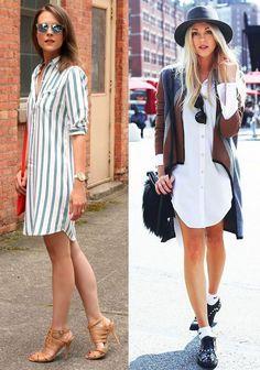 a766bddb3ca9 Desejo do momento: vestido chemise   Moda feminina   Vestido chemise ...
