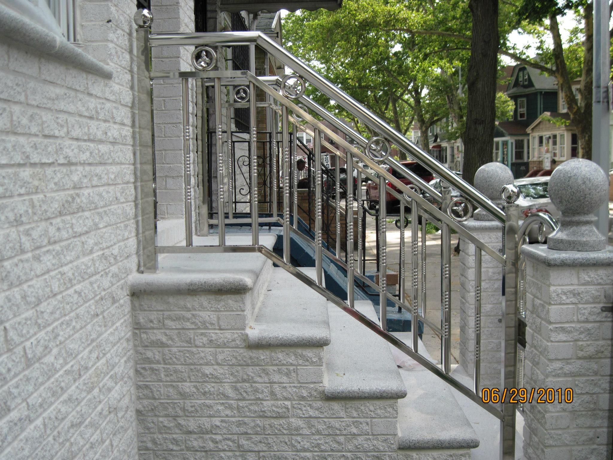 Double J Contracting Inc Railings Outdoor Outdoor Stair Railing