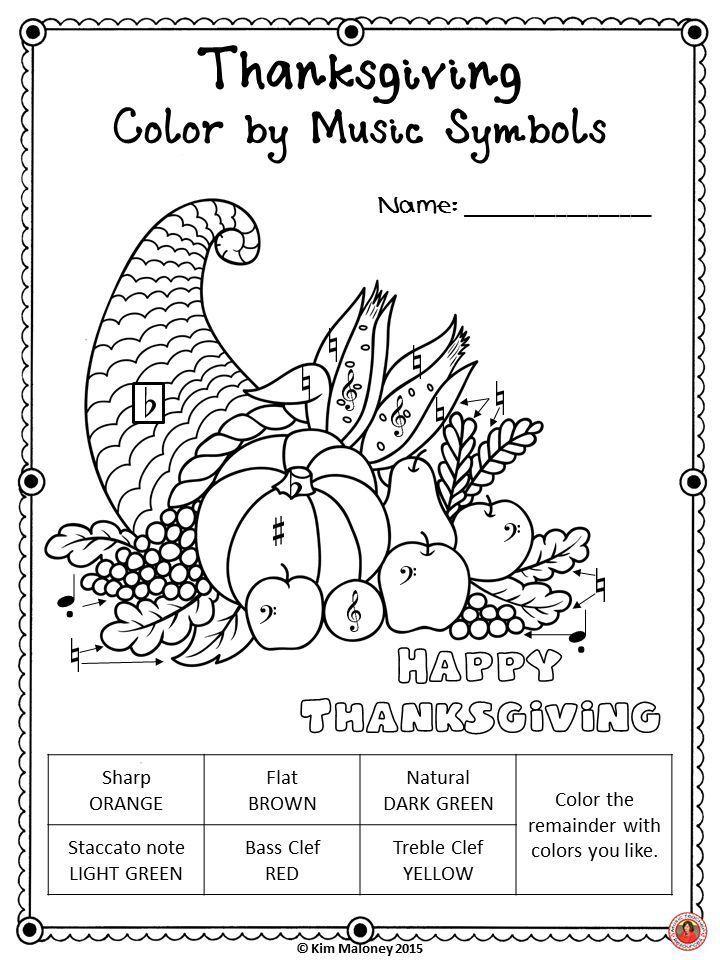 thanksgiving music activities  colormusic symbol