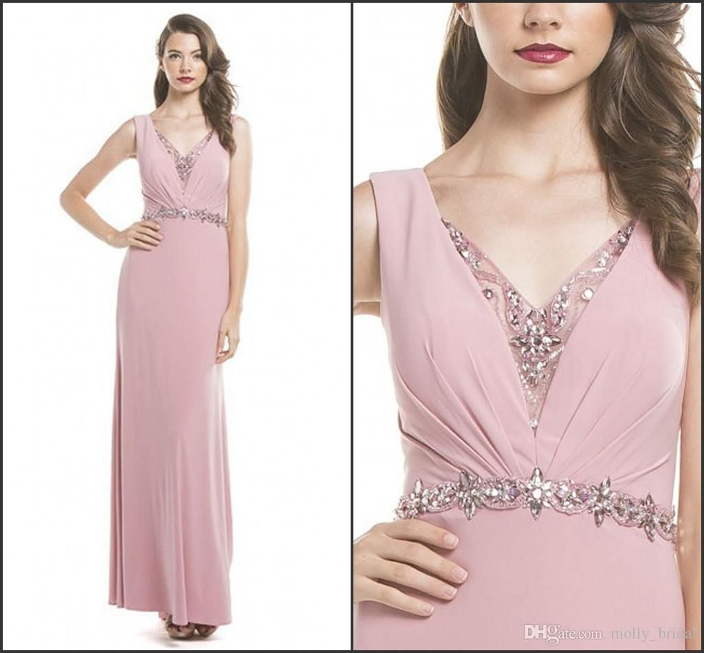 Blush Pink Sheath Mother Of The Bridal 2017 Cap Sleeve Sexy V Neck Crystal Beaded Sequins Backless Wedding Dress Evening Gowns For Women Plus Size Mother Of Groom Dresses Purple Mother Of The Bride Dress From Molly_bridal, $95.88| Dhgate.Com