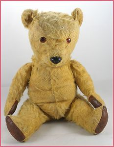 Vintage 1960s Chiltern English Golden Mohair Fur Old Teddy Bear 14 Tall Ebay Old Teddy Bears Teddy Bear Pictures Teddy Bear