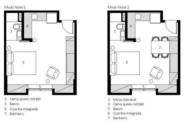 Bras lia studio 27 planta baixa apartamento pequeno for Fachadas de apartamentos pequenos