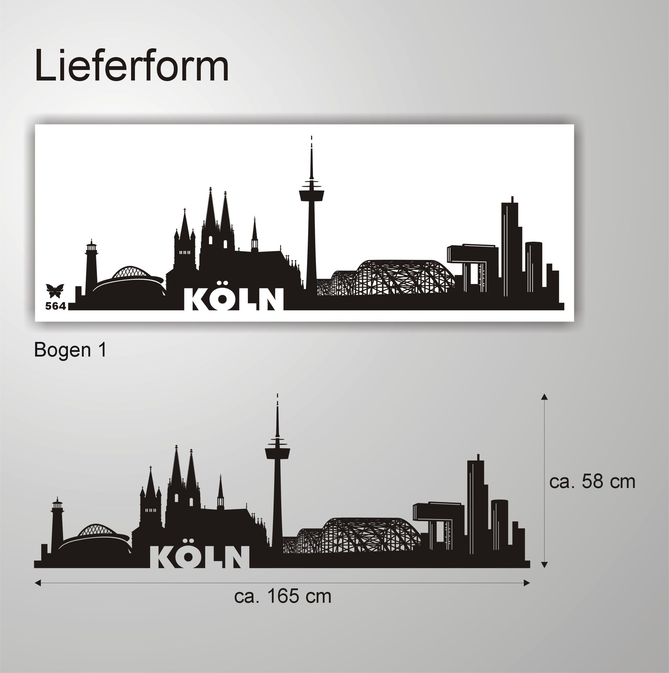 Blickfang Wandtattoo Köln Beste Wahl Skyline Köln 564