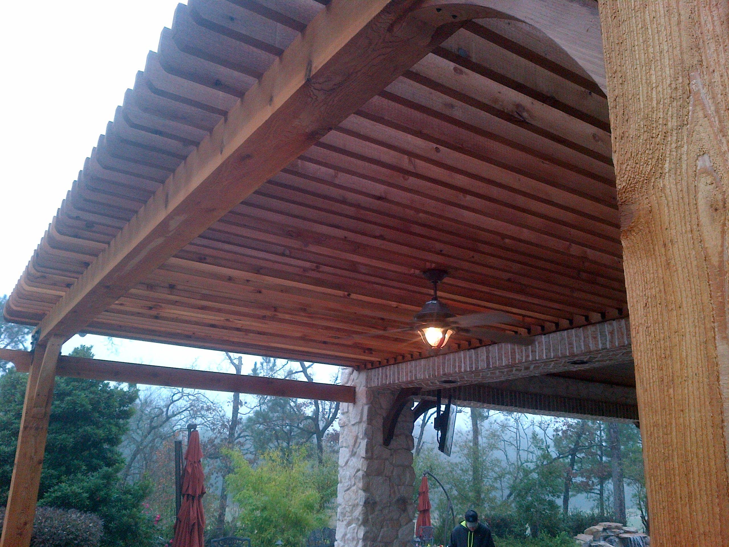 Custom cedar pergolas in Magnolia, TX