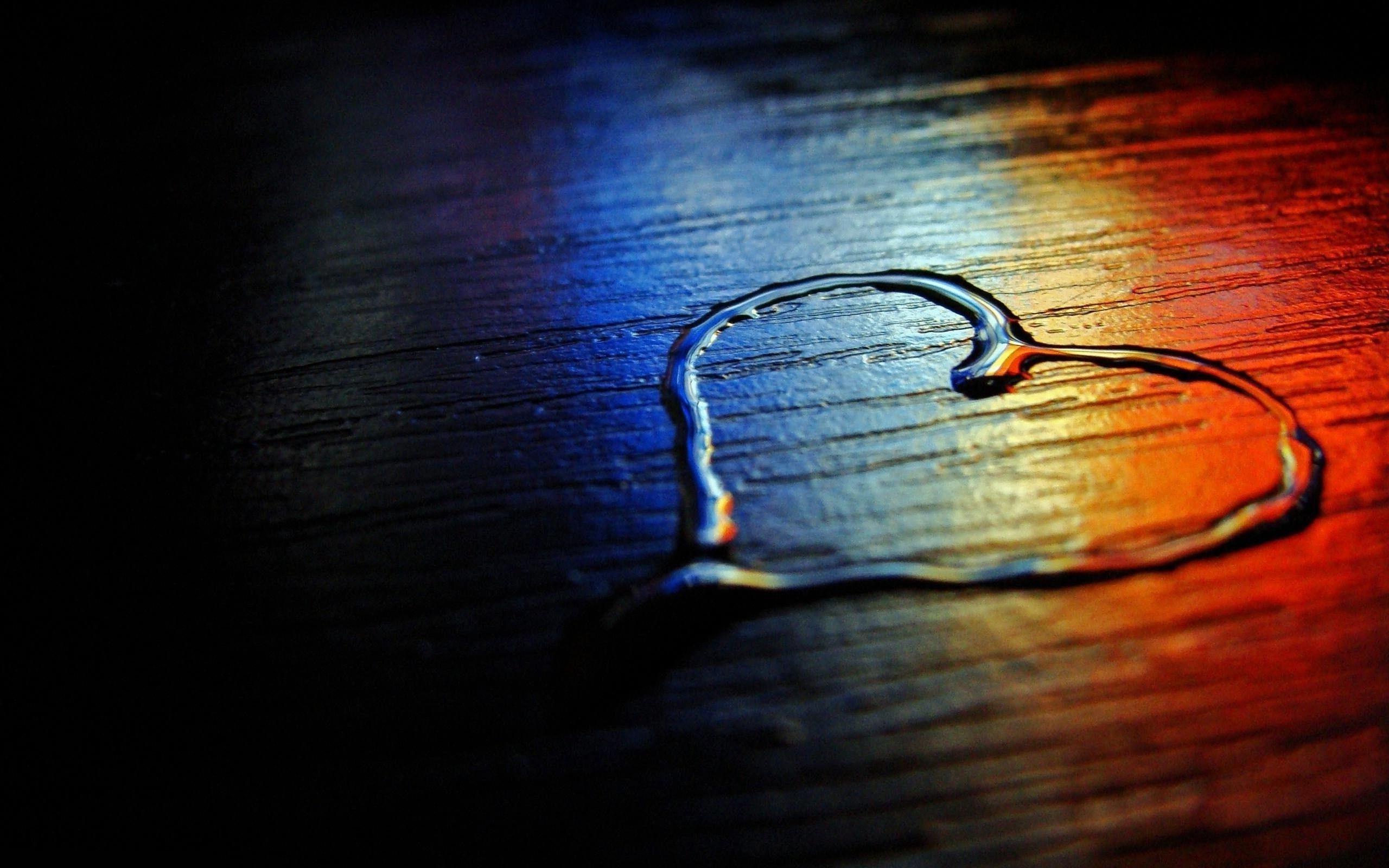 Heart Rainbow Wood Floor Water Love Photography Desktop Wallpaper