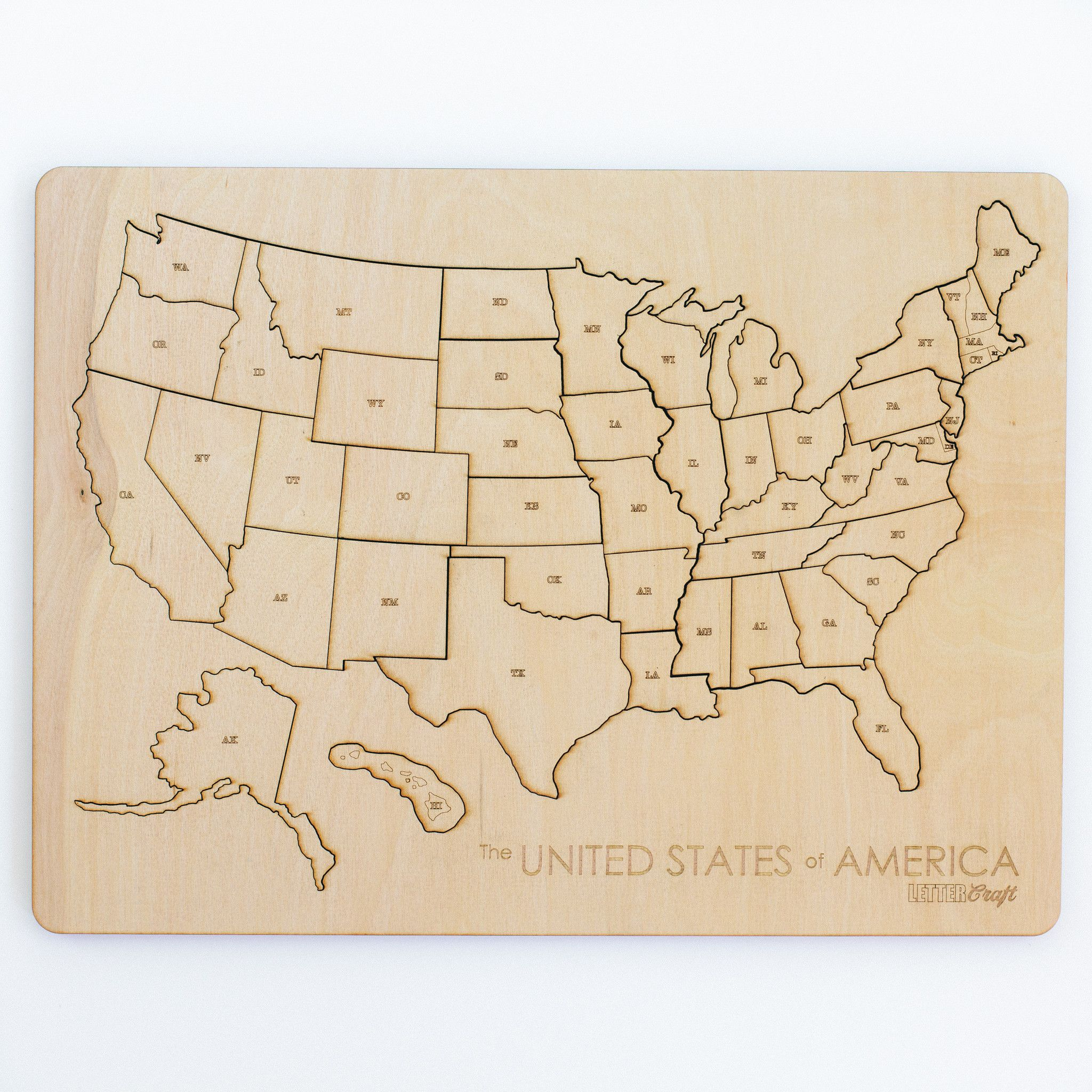 United States Puzzle Letter a crafts, Wood gifts, Handcraft