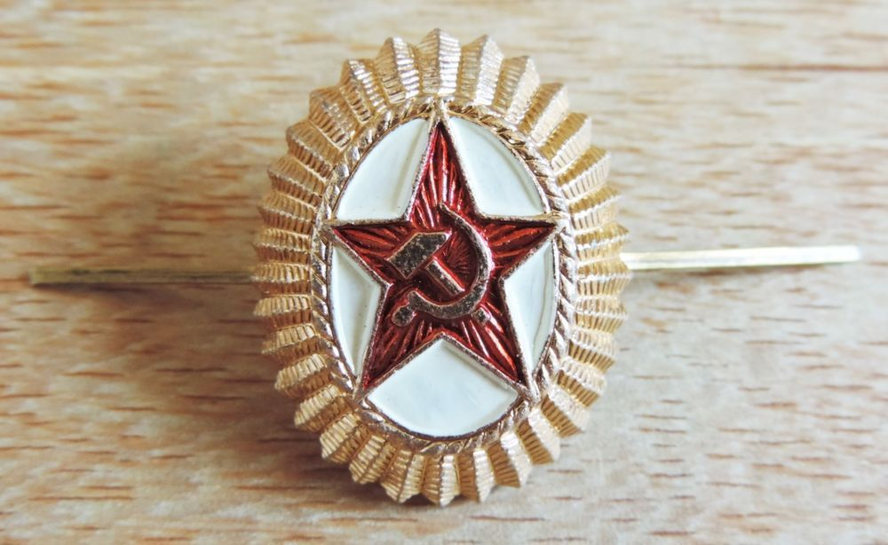 8f2737572dc COCKADE SOVIET RUSSIAN ARMY OFFICERS HAT PIN RED STAR BADGE CAP KOKARDA USSR  NEW