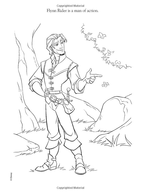 Disney Tangled Flynn Rider Coloring Pages Is Part Of Today We Give Fresh Idea For Our Lovely Readers