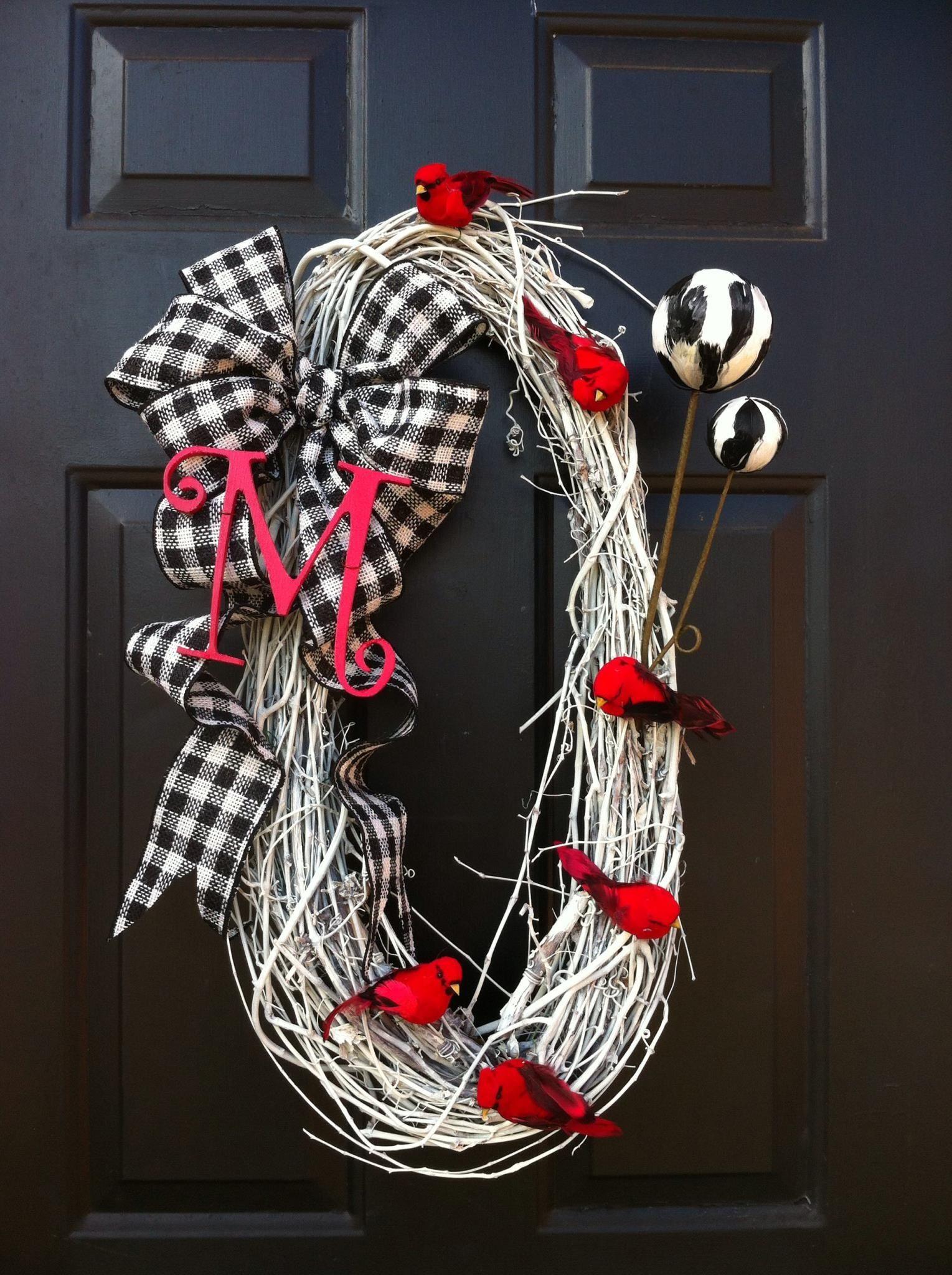 My Diy Door Wreath For January Door Wreaths Diy Wreath