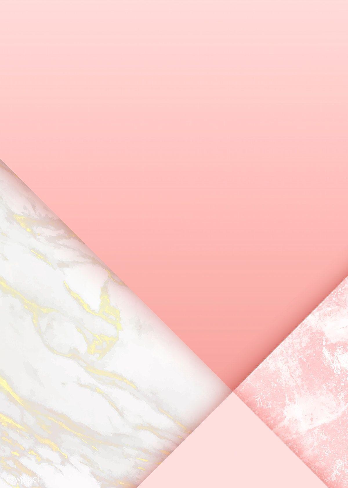 Pink Feminine Geometric Background Vector Free Image By Rawpixel Com Niwat Geometric Background Wallpaper Design Pattern Trendy Wallpaper Pattern