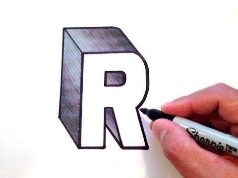 How To Draw The Letter A In D  Youtube  Letters