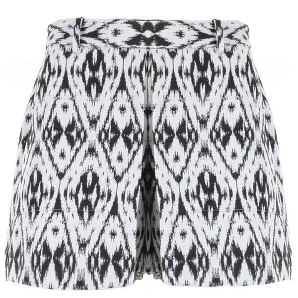 THEORY Diamond Print Shorts ($275) ❤ liked on Polyvore